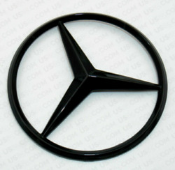 For Mercedes Coupe C238 Emblem Sticker Star Rear Boot Trunk Badge Glossy Black