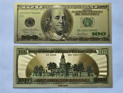 10andnbspgold Banknote Dollar Bill 24k Us Currency Money Non Paper Reserve Gifts Coins