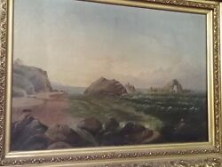 Antique Oil Painting Original By Known Artist Lydia Gibson Ny California