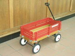 Vintage Radio Flyer Town And Country Wooden Wagon, 3 Feet Long