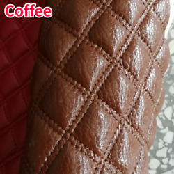 Diy Thick Quilted Faux Leather Fabric Diamond Sponge Upholstery Sewing Material