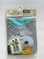 Build A Bear 2-pieces Kids Unisex Pajamas Snoopy Peanuts Sz 4 New In Packaging