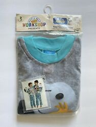 Build A Bear 2-pieces Kids Unisex Pajamas Snoopy Peanuts Sz 5 New In Packaging.