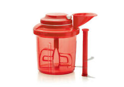 New Tupperware Red Extra Chef Chop Dice Puree Blend Whip