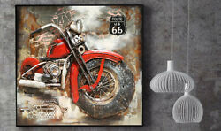 Museum Quality Highly Three Dimensional Harley Davidson Painting Artwork Deal