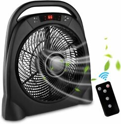 12 Inch Remote Table Fan Quiet Floor Fan With 3 Speeds And Smart Timer