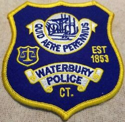 Ct Waterbury Connecticut Police Patch