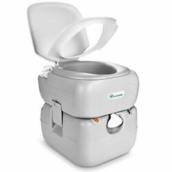 Portable Toilet 5.8 Gallon,travel Rv Potty With Level Indicator,t-type Water ...
