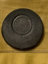 Ceylon Victoria Test Strike Of Reverse Of 10 Cent 1892 Extremely Rare Unique