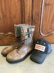 Wwii Military Boots French Ranger Scout Foreign Legion Boots Mens 8 And Rrl Hat