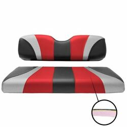 Golf Carts Rear Seat Covers Tri Color Jet Red/liquid Sliver/black Free Shipping