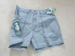 Hook And Tackle Mens Shorts Beer Can Island 100 Cotton Fishing 38w Nwt 1990and039s