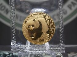 2001 China Panda Gold 1/4 Oz 100y Sealed Rp East Coast Coin And Collectables