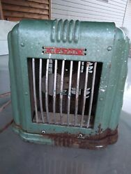 Antique Arvin Electric Space Heater Fan Art Deco Andnbspmodel 102 Tested Working