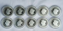 Silver Towne Morgan Dollar Stackable 1oz .999 Silver Rounds Lot Of 10 W/capsules