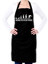 Born To Play Pool Unisex Apron - Snooker - Cue - 8 Ball - Billiards - Game