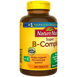 Nature Made Super B-complex Tablets For Metabolic Health 460 Ct.