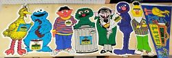 Vintage 1984 Muppets Characters Pennant Sesame Street Live Lot Of 8