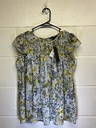 Banana Republic Small Women's Abstract Floral Sleeved Top $15.99