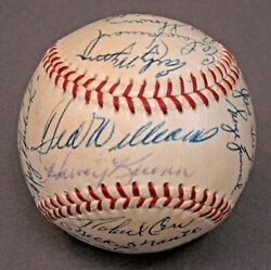 1958 A.l. All Star Game 29 Signatures Autographed Baseball Williams Mantle Ford