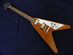 Gibson Flying V Antique Natural Made In Usa W/ Burstbucker 2 And 3 U1231