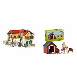 Schleich Farm World Large Toy Barn And Farm Animals 52-piece Playset For Todd...