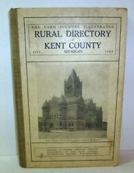 1922 Rural Directory Of Kent County Grand Rapids, Michigan Book, History, Ads