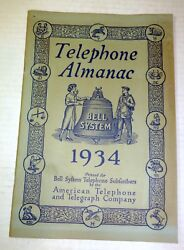 1934 Bell System Telephone Almanac, History Of The Phone