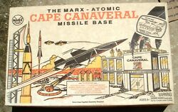 Vintage Marx Atomic Cape Canaveral Missile Base W/box Many New Parts 4521