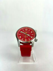 Android Red Silicon Band Watch New