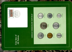 Coin Sets Of All Nations East Germany All 1979 Unc 10 Pf 1980 5 Mark 1979 32000