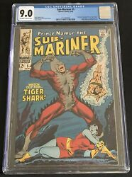 Sub-mariner 5 Cgc 9.0 Ow/wh Origin And 1st Appearance Tiger Shark 1968