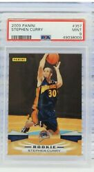 2009-10 Panini 357 Stephen Curry Golden State Warriors Rc Rookie Psa 9 Mint