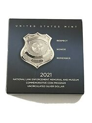 National Law Enforcement Memorial And Museum 2021 Uncirculated Silver Dollar