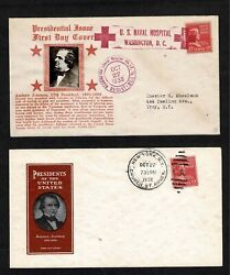 822 Prexy-17andcent Johnson Unofficial Cancels- Crosby Us Naval Hospital And Ioor Uo Ny