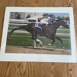 Race Horse Cigar Poster / Picture By Michael Wellford