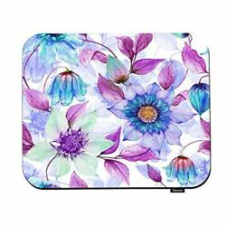 Swono Seamless Spring Floral Mouse Pads Transparent Purple Clematis Flowers O...
