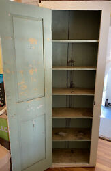 Antique 87 Chimney Cupboard 6 Shelves, Square Head Nails, Solid Construction