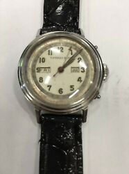 1950s Vintage And Co Movado Triple Calendar 14819 Stainless Watch