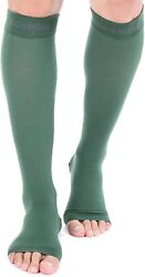Doc Miller Open Toe Compression Socks 2 Pair 20-30mmhg Support Circulation Recov