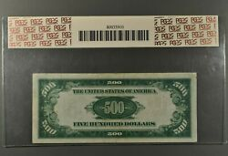 Series 1934 500 Fr 2201-b Federal Reserve Note Pcgs Apparent Vf20andnbsp