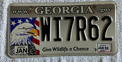 Georgia Give Wildlife A Chance License Plate 2006 Decal  See My Other Plates