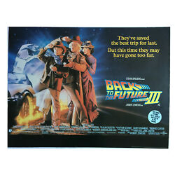 Back To The Future Part Iii 1990 Rare Vintage 40x30 Uk Quad Poster