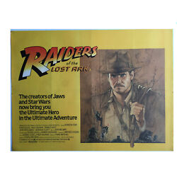 Raiders Of The Lost Ark 1981 Rare Vintage 40x30 Uk Quad Poster Harrison Ford