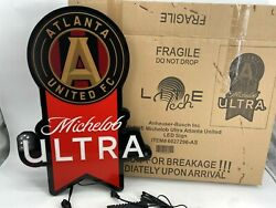 Michelob Ultra Beer Atlanta United Led Sign New Open Box