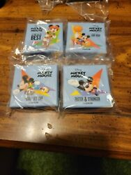 2020 Niue Disney Mickey Mouse Olympics Complete Set Four 1 Oz .999 Silver Coins