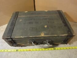 Vintage 50's Russian 7.9mm Wooden Ammo Crate, Box. 900 Round, M49 Metak
