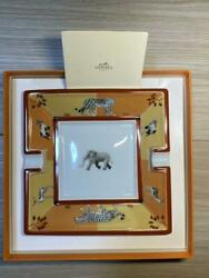 Hermes Genuine Plate Rare Pottery Animal Series Elephant Japan First Shipping