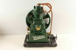 Neat Restored Antique Usaco United States Air Compressor Pump Motor Hit Miss