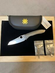 Spyderco Paysan Discontinuedrarebrand Newpurvis And Mxg Clips Included